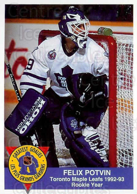 1993-94 High Liner Greatest Goalies #13 Felix Potvin<br/>5 In Stock - $3.00 each - <a href=https://centericecollectibles.foxycart.com/cart?name=1993-94%20High%20Liner%20Greatest%20Goalies%20%2313%20Felix%20Potvin...&quantity_max=5&price=$3.00&code=7142 class=foxycart> Buy it now! </a>
