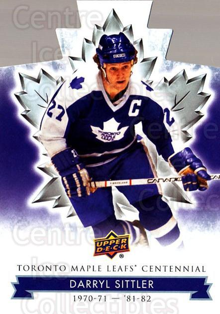 2017-18 Toronto Maple Leafs Centennial Die Cut #50 Darryl Sittler<br/>5 In Stock - $3.00 each - <a href=https://centericecollectibles.foxycart.com/cart?name=2017-18%20Toronto%20Maple%20Leafs%20Centennial%20Die%20Cut%20%2350%20Darryl%20Sittler...&quantity_max=5&price=$3.00&code=714304 class=foxycart> Buy it now! </a>