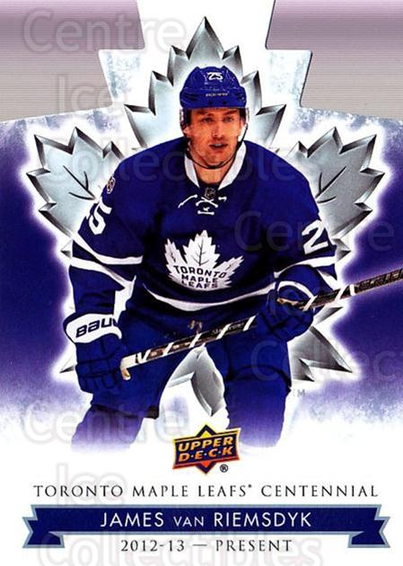 2017-18 Toronto Maple Leafs Centennial Die Cut #59 James van Riemsdyk<br/>6 In Stock - $3.00 each - <a href=https://centericecollectibles.foxycart.com/cart?name=2017-18%20Toronto%20Maple%20Leafs%20Centennial%20Die%20Cut%20%2359%20James%20van%20Riems...&quantity_max=6&price=$3.00&code=714313 class=foxycart> Buy it now! </a>
