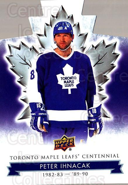 2017-18 Toronto Maple Leafs Centennial Die Cut #60 Peter Ihnacak<br/>3 In Stock - $3.00 each - <a href=https://centericecollectibles.foxycart.com/cart?name=2017-18%20Toronto%20Maple%20Leafs%20Centennial%20Die%20Cut%20%2360%20Peter%20Ihnacak...&quantity_max=3&price=$3.00&code=714314 class=foxycart> Buy it now! </a>