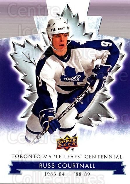 2017-18 Toronto Maple Leafs Centennial Die Cut #69 Russ Courtnall<br/>6 In Stock - $3.00 each - <a href=https://centericecollectibles.foxycart.com/cart?name=2017-18%20Toronto%20Maple%20Leafs%20Centennial%20Die%20Cut%20%2369%20Russ%20Courtnall...&quantity_max=6&price=$3.00&code=714323 class=foxycart> Buy it now! </a>