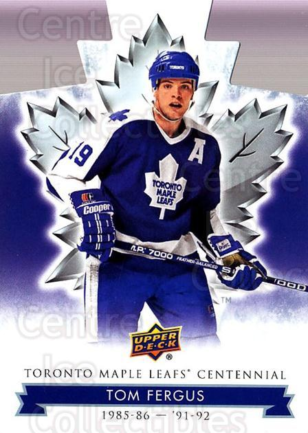 2017-18 Toronto Maple Leafs Centennial Die Cut #75 Tom Fergus<br/>4 In Stock - $3.00 each - <a href=https://centericecollectibles.foxycart.com/cart?name=2017-18%20Toronto%20Maple%20Leafs%20Centennial%20Die%20Cut%20%2375%20Tom%20Fergus...&price=$3.00&code=714329 class=foxycart> Buy it now! </a>
