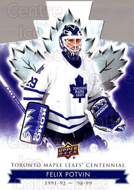 2017-18 Toronto Maple Leafs Centennial Die Cut #82 Felix Potvin<br/>3 In Stock - $3.00 each - <a href=https://centericecollectibles.foxycart.com/cart?name=2017-18%20Toronto%20Maple%20Leafs%20Centennial%20Die%20Cut%20%2382%20Felix%20Potvin...&quantity_max=3&price=$3.00&code=714336 class=foxycart> Buy it now! </a>