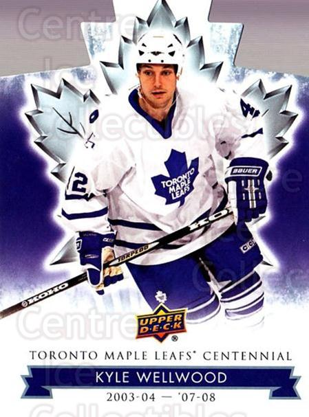 2017-18 Toronto Maple Leafs Centennial Die Cut #85 Kyle Wellwood<br/>8 In Stock - $3.00 each - <a href=https://centericecollectibles.foxycart.com/cart?name=2017-18%20Toronto%20Maple%20Leafs%20Centennial%20Die%20Cut%20%2385%20Kyle%20Wellwood...&quantity_max=8&price=$3.00&code=714339 class=foxycart> Buy it now! </a>