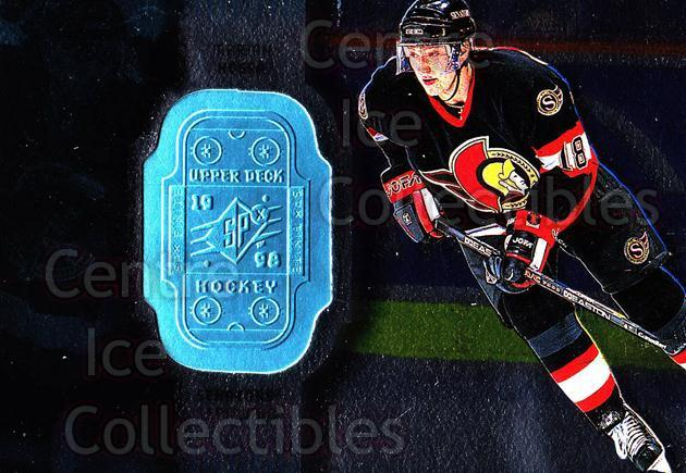 1998-99 SPx Finite #58 Marian Hossa<br/>1 In Stock - $1.00 each - <a href=https://centericecollectibles.foxycart.com/cart?name=1998-99%20SPx%20Finite%20%2358%20Marian%20Hossa...&quantity_max=1&price=$1.00&code=71436 class=foxycart> Buy it now! </a>
