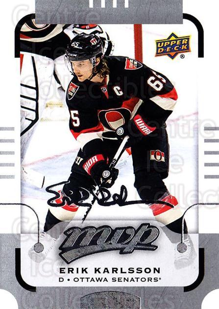 2015-16 Upper Deck Mvp Silver Script #116 Erik Karlsson<br/>1 In Stock - $3.00 each - <a href=https://centericecollectibles.foxycart.com/cart?name=2015-16%20Upper%20Deck%20Mvp%20Silver%20Script%20%23116%20Erik%20Karlsson...&quantity_max=1&price=$3.00&code=714473 class=foxycart> Buy it now! </a>