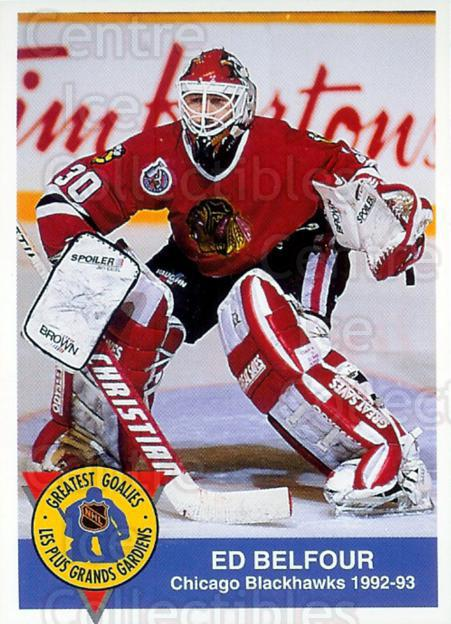1993-94 High Liner Greatest Goalies #2 Ed Belfour<br/>16 In Stock - $3.00 each - <a href=https://centericecollectibles.foxycart.com/cart?name=1993-94%20High%20Liner%20Greatest%20Goalies%20%232%20Ed%20Belfour...&price=$3.00&code=7144 class=foxycart> Buy it now! </a>