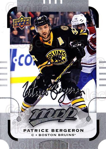 2015-16 Upper Deck Mvp Silver Script #150 Patrice Bergeron<br/>1 In Stock - $3.00 each - <a href=https://centericecollectibles.foxycart.com/cart?name=2015-16%20Upper%20Deck%20Mvp%20Silver%20Script%20%23150%20Patrice%20Bergero...&quantity_max=1&price=$3.00&code=714507 class=foxycart> Buy it now! </a>