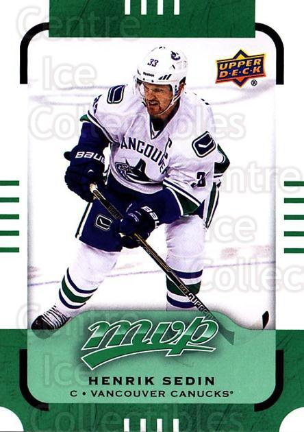 2015-16 Upper Deck Mvp Green #57 Henrik Sedin<br/>4 In Stock - $2.00 each - <a href=https://centericecollectibles.foxycart.com/cart?name=2015-16%20Upper%20Deck%20Mvp%20Green%20%2357%20Henrik%20Sedin...&quantity_max=4&price=$2.00&code=714696 class=foxycart> Buy it now! </a>