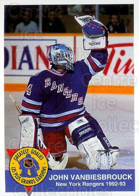 1993-94 High Liner Greatest Goalies #5 John Vanbiesbrouck<br/>4 In Stock - $3.00 each - <a href=https://centericecollectibles.foxycart.com/cart?name=1993-94%20High%20Liner%20Greatest%20Goalies%20%235%20John%20Vanbiesbro...&quantity_max=4&price=$3.00&code=7147 class=foxycart> Buy it now! </a>