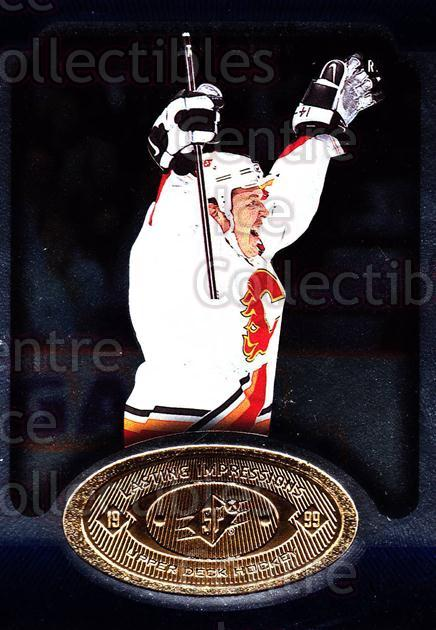 1998-99 SPx Top Prospects Lasting Impressions #11 Theo Fleury<br/>9 In Stock - $3.00 each - <a href=https://centericecollectibles.foxycart.com/cart?name=1998-99%20SPx%20Top%20Prospects%20Lasting%20Impressions%20%2311%20Theo%20Fleury...&price=$3.00&code=71481 class=foxycart> Buy it now! </a>