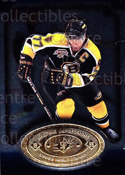 1998-99 SPx Top Prospects Lasting Impressions #17 Ray Bourque<br/>6 In Stock - $3.00 each - <a href=https://centericecollectibles.foxycart.com/cart?name=1998-99%20SPx%20Top%20Prospects%20Lasting%20Impressions%20%2317%20Ray%20Bourque...&price=$3.00&code=71484 class=foxycart> Buy it now! </a>