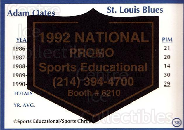 1991-92 Sports Educational National Promo #38 Adam Oates<br/>1 In Stock - $5.00 each - <a href=https://centericecollectibles.foxycart.com/cart?name=1991-92%20Sports%20Educational%20National%20Promo%20%2338%20Adam%20Oates...&quantity_max=1&price=$5.00&code=714851 class=foxycart> Buy it now! </a>