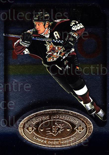 1998-99 SPx Top Prospects Lasting Impressions #20 Jeremy Roenick<br/>6 In Stock - $3.00 each - <a href=https://centericecollectibles.foxycart.com/cart?name=1998-99%20SPx%20Top%20Prospects%20Lasting%20Impressions%20%2320%20Jeremy%20Roenick...&price=$3.00&code=71485 class=foxycart> Buy it now! </a>