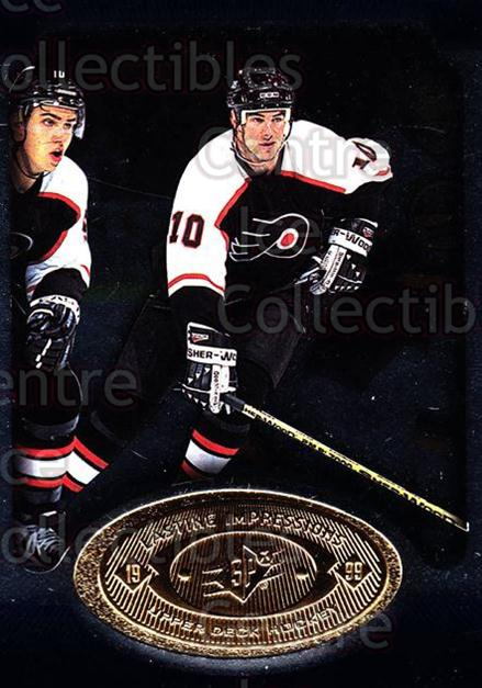 1998-99 SPx Top Prospects Lasting Impressions #24 John LeClair<br/>11 In Stock - $3.00 each - <a href=https://centericecollectibles.foxycart.com/cart?name=1998-99%20SPx%20Top%20Prospects%20Lasting%20Impressions%20%2324%20John%20LeClair...&price=$3.00&code=71487 class=foxycart> Buy it now! </a>