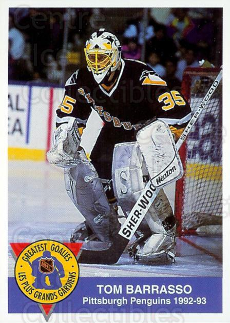 1993-94 High Liner Greatest Goalies #6 Tom Barrasso<br/>6 In Stock - $3.00 each - <a href=https://centericecollectibles.foxycart.com/cart?name=1993-94%20High%20Liner%20Greatest%20Goalies%20%236%20Tom%20Barrasso...&price=$3.00&code=7148 class=foxycart> Buy it now! </a>