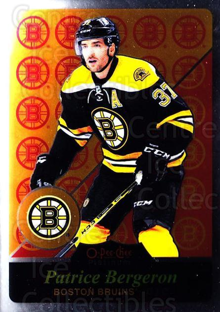 2015-16 O-Pee-Chee Platinum Retro #60 Patrice Bergeron<br/>2 In Stock - $3.00 each - <a href=https://centericecollectibles.foxycart.com/cart?name=2015-16%20O-Pee-Chee%20Platinum%20Retro%20%2360%20Patrice%20Bergero...&quantity_max=2&price=$3.00&code=714917 class=foxycart> Buy it now! </a>
