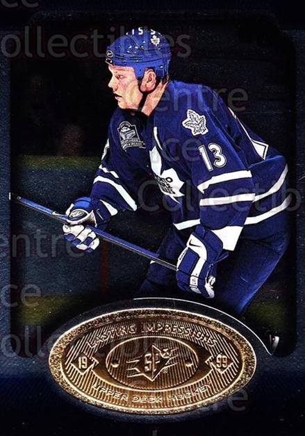 1998-99 SPx Top Prospects Lasting Impressions #8 Mats Sundin<br/>5 In Stock - $3.00 each - <a href=https://centericecollectibles.foxycart.com/cart?name=1998-99%20SPx%20Top%20Prospects%20Lasting%20Impressions%20%238%20Mats%20Sundin...&price=$3.00&code=71494 class=foxycart> Buy it now! </a>