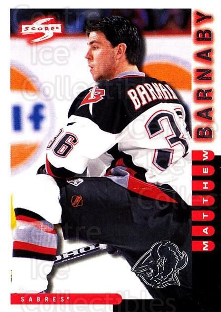 1997-98 Score Buffalo Sabres #5 Matthew Barnaby<br/>1 In Stock - $2.00 each - <a href=https://centericecollectibles.foxycart.com/cart?name=1997-98%20Score%20Buffalo%20Sabres%20%235%20Matthew%20Barnaby...&quantity_max=1&price=$2.00&code=714962 class=foxycart> Buy it now! </a>