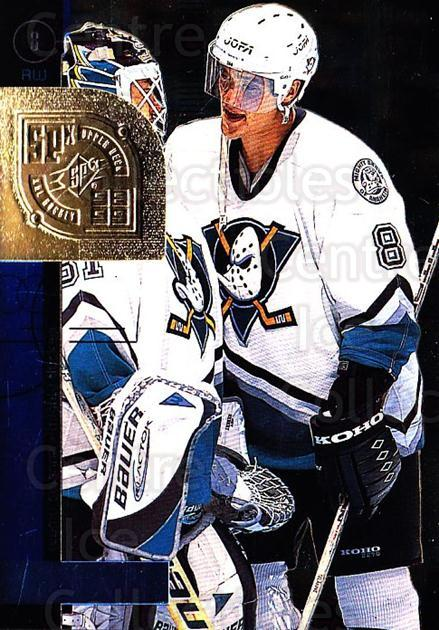 1998-99 SPx Top Prospects #1 Paul Kariya<br/>5 In Stock - $1.00 each - <a href=https://centericecollectibles.foxycart.com/cart?name=1998-99%20SPx%20Top%20Prospects%20%231%20Paul%20Kariya...&quantity_max=5&price=$1.00&code=71499 class=foxycart> Buy it now! </a>