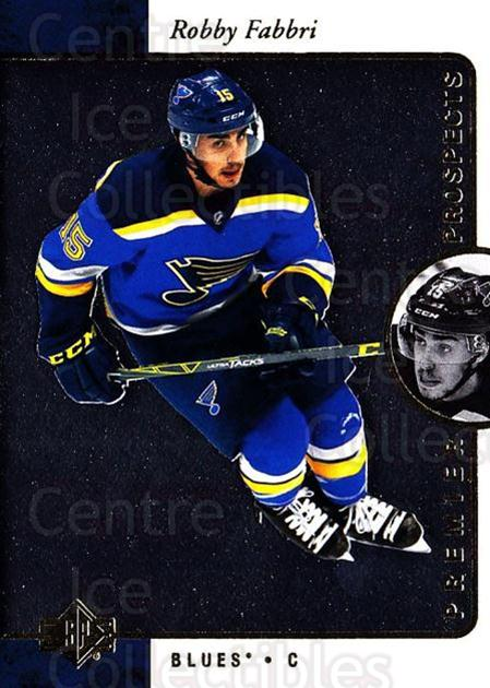 2015-16 SP Authentic 1995-96 SP Retro #57 Robby Fabbri<br/>1 In Stock - $5.00 each - <a href=https://centericecollectibles.foxycart.com/cart?name=2015-16%20SP%20Authentic%201995-96%20SP%20Retro%20%2357%20Robby%20Fabbri...&quantity_max=1&price=$5.00&code=715081 class=foxycart> Buy it now! </a>