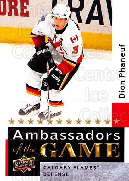2009-10 Upper Deck Ambassadors of the Game #34 Dion Phaneuf<br/>3 In Stock - $3.00 each - <a href=https://centericecollectibles.foxycart.com/cart?name=2009-10%20Upper%20Deck%20Ambassadors%20of%20the%20Game%20%2334%20Dion%20Phaneuf...&quantity_max=3&price=$3.00&code=715118 class=foxycart> Buy it now! </a>