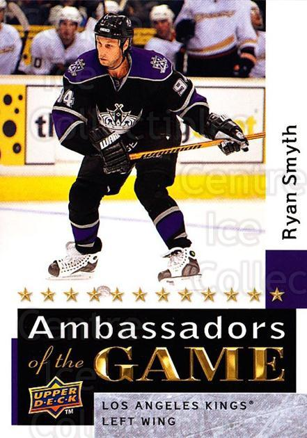 2009-10 Upper Deck Ambassadors of the Game #40 Ryan Smyth<br/>3 In Stock - $3.00 each - <a href=https://centericecollectibles.foxycart.com/cart?name=2009-10%20Upper%20Deck%20Ambassadors%20of%20the%20Game%20%2340%20Ryan%20Smyth...&quantity_max=3&price=$3.00&code=715124 class=foxycart> Buy it now! </a>