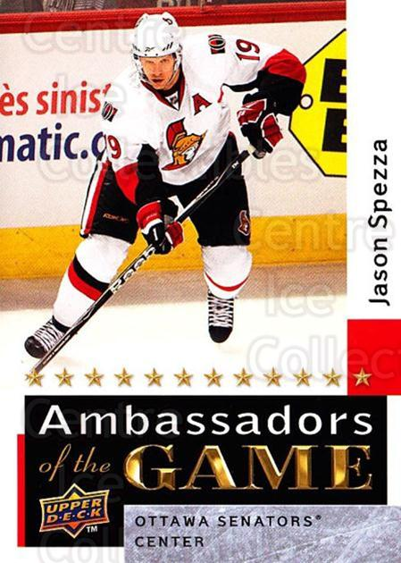 2009-10 Upper Deck Ambassadors of the Game #45 Jason Spezza<br/>3 In Stock - $3.00 each - <a href=https://centericecollectibles.foxycart.com/cart?name=2009-10%20Upper%20Deck%20Ambassadors%20of%20the%20Game%20%2345%20Jason%20Spezza...&quantity_max=3&price=$3.00&code=715129 class=foxycart> Buy it now! </a>