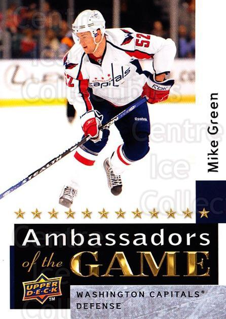 2009-10 Upper Deck Ambassadors of the Game #50 Mike Green<br/>3 In Stock - $3.00 each - <a href=https://centericecollectibles.foxycart.com/cart?name=2009-10%20Upper%20Deck%20Ambassadors%20of%20the%20Game%20%2350%20Mike%20Green...&quantity_max=3&price=$3.00&code=715134 class=foxycart> Buy it now! </a>