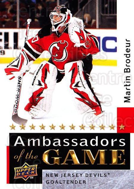 2009-10 Upper Deck Ambassadors of the Game #55 Martin Brodeur<br/>1 In Stock - $5.00 each - <a href=https://centericecollectibles.foxycart.com/cart?name=2009-10%20Upper%20Deck%20Ambassadors%20of%20the%20Game%20%2355%20Martin%20Brodeur...&quantity_max=1&price=$5.00&code=715139 class=foxycart> Buy it now! </a>