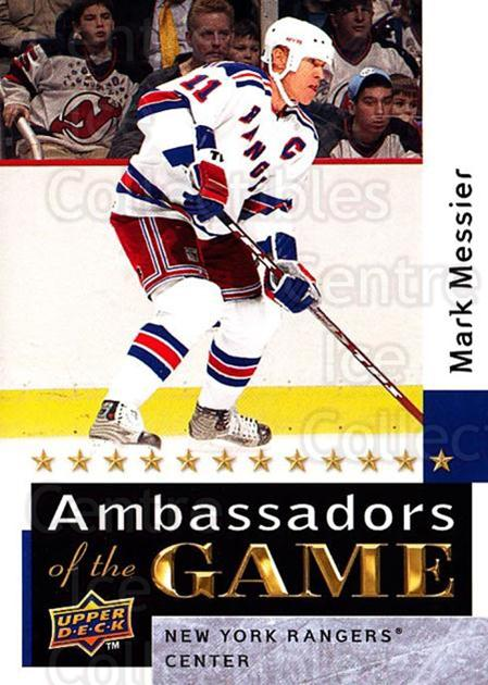 2009-10 Upper Deck Ambassadors of the Game #57 Mark Messier<br/>1 In Stock - $5.00 each - <a href=https://centericecollectibles.foxycart.com/cart?name=2009-10%20Upper%20Deck%20Ambassadors%20of%20the%20Game%20%2357%20Mark%20Messier...&quantity_max=1&price=$5.00&code=715141 class=foxycart> Buy it now! </a>