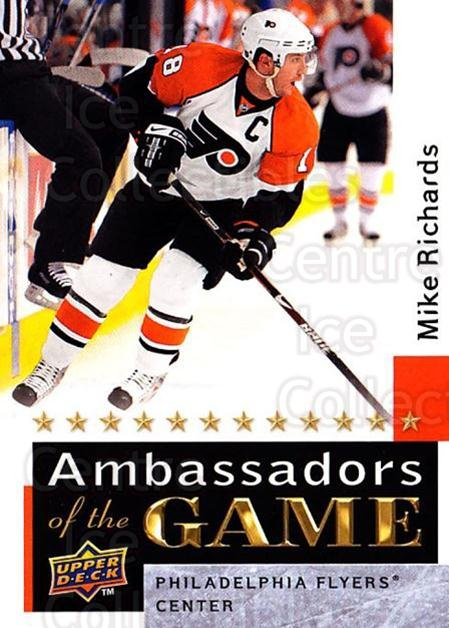 2009-10 Upper Deck Ambassadors of the Game #58 Mike Richards<br/>1 In Stock - $5.00 each - <a href=https://centericecollectibles.foxycart.com/cart?name=2009-10%20Upper%20Deck%20Ambassadors%20of%20the%20Game%20%2358%20Mike%20Richards...&quantity_max=1&price=$5.00&code=715142 class=foxycart> Buy it now! </a>