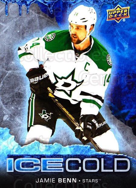 2017-18 Upper Deck Overtime Ice Cold #4 Jamie Benn<br/>9 In Stock - $3.00 each - <a href=https://centericecollectibles.foxycart.com/cart?name=2017-18%20Upper%20Deck%20Overtime%20Ice%20Cold%20%234%20Jamie%20Benn...&quantity_max=9&price=$3.00&code=715178 class=foxycart> Buy it now! </a>