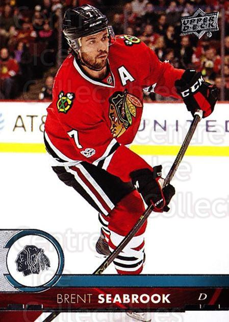 2017-18 Upper Deck #39 Brent Seabrook<br/>12 In Stock - $1.00 each - <a href=https://centericecollectibles.foxycart.com/cart?name=2017-18%20Upper%20Deck%20%2339%20Brent%20Seabrook...&quantity_max=12&price=$1.00&code=715233 class=foxycart> Buy it now! </a>