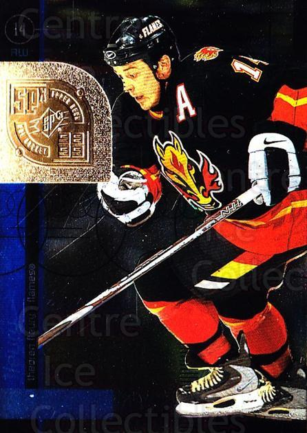 1998-99 SPx Top Prospects #7 Theo Fleury<br/>4 In Stock - $1.00 each - <a href=https://centericecollectibles.foxycart.com/cart?name=1998-99%20SPx%20Top%20Prospects%20%237%20Theo%20Fleury...&quantity_max=4&price=$1.00&code=71549 class=foxycart> Buy it now! </a>