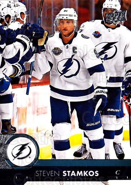 2017-18 Upper Deck #410 Steven Stamkos<br/>12 In Stock - $1.00 each - <a href=https://centericecollectibles.foxycart.com/cart?name=2017-18%20Upper%20Deck%20%23410%20Steven%20Stamkos...&price=$1.00&code=715604 class=foxycart> Buy it now! </a>