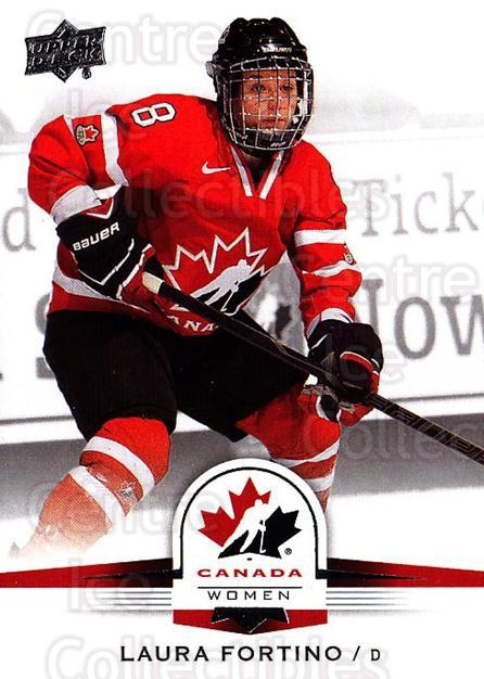 2014-15 Upper Deck Team Canada #71 Laura Fortino<br/>1 In Stock - $1.00 each - <a href=https://centericecollectibles.foxycart.com/cart?name=2014-15%20Upper%20Deck%20Team%20Canada%20%2371%20Laura%20Fortino...&quantity_max=1&price=$1.00&code=715789 class=foxycart> Buy it now! </a>