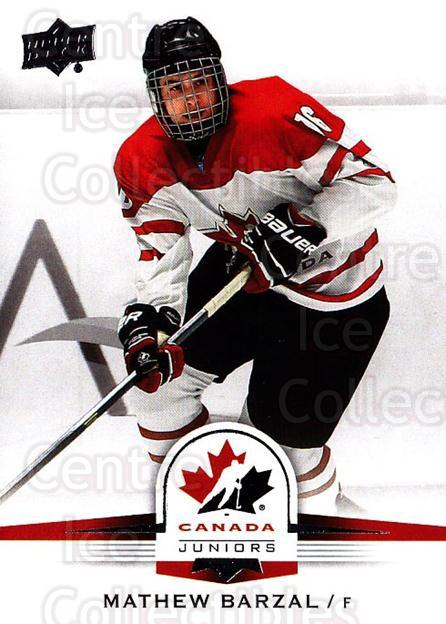 2014-15 Upper Deck Team Canada #121 Mathew Barzal<br/>1 In Stock - $10.00 each - <a href=https://centericecollectibles.foxycart.com/cart?name=2014-15%20Upper%20Deck%20Team%20Canada%20%23121%20Mathew%20Barzal...&quantity_max=1&price=$10.00&code=715839 class=foxycart> Buy it now! </a>