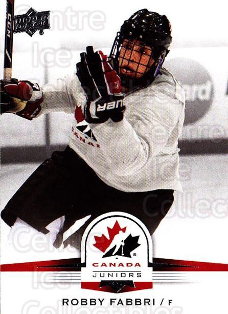 2014-15 Upper Deck Team Canada #133 Robby Fabbri<br/>3 In Stock - $3.00 each - <a href=https://centericecollectibles.foxycart.com/cart?name=2014-15%20Upper%20Deck%20Team%20Canada%20%23133%20Robby%20Fabbri...&quantity_max=3&price=$3.00&code=715851 class=foxycart> Buy it now! </a>