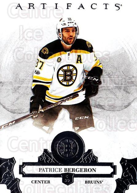 2017-18 UD Artifacts #8 Patrice Bergeron<br/>2 In Stock - $2.00 each - <a href=https://centericecollectibles.foxycart.com/cart?name=2017-18%20UD%20Artifacts%20%238%20Patrice%20Bergero...&quantity_max=2&price=$2.00&code=715933 class=foxycart> Buy it now! </a>