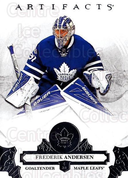 2017-18 UD Artifacts #50 Frederik Andersen<br/>4 In Stock - $2.00 each - <a href=https://centericecollectibles.foxycart.com/cart?name=2017-18%20UD%20Artifacts%20%2350%20Frederik%20Anders...&quantity_max=4&price=$2.00&code=715975 class=foxycart> Buy it now! </a>