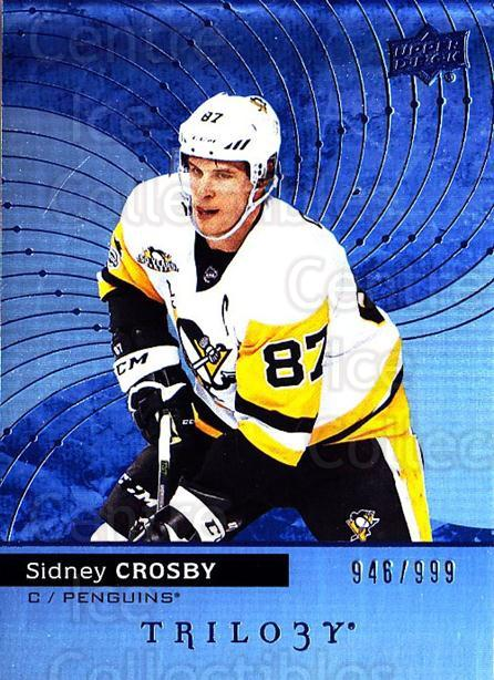 2017-18 UD Trilogy Blue #15 Sidney Crosby<br/>3 In Stock - $15.00 each - <a href=https://centericecollectibles.foxycart.com/cart?name=2017-18%20UD%20Trilogy%20Blue%20%2315%20Sidney%20Crosby...&quantity_max=3&price=$15.00&code=716121 class=foxycart> Buy it now! </a>