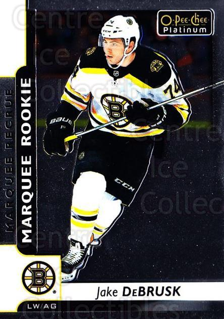 2017-18 O-Pee-Chee Platinum #187 Jake DeBrusk<br/>8 In Stock - $5.00 each - <a href=https://centericecollectibles.foxycart.com/cart?name=2017-18%20O-Pee-Chee%20Platinum%20%23187%20Jake%20DeBrusk...&quantity_max=8&price=$5.00&code=716363 class=foxycart> Buy it now! </a>