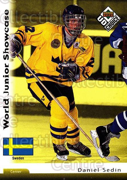 1998-99 Swedish UD Choice #219 Daniel Sedin<br/>12 In Stock - $2.00 each - <a href=https://centericecollectibles.foxycart.com/cart?name=1998-99%20Swedish%20UD%20Choice%20%23219%20Daniel%20Sedin...&price=$2.00&code=71706 class=foxycart> Buy it now! </a>
