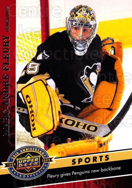 2009 Upper Deck 20th Anniversary #1831 Marc-Andre Fleury<br/>59 In Stock - $3.00 each - <a href=https://centericecollectibles.foxycart.com/cart?name=2009%20Upper%20Deck%2020th%20Anniversary%20%231831%20Marc-Andre%20Fleu...&quantity_max=59&price=$3.00&code=717090 class=foxycart> Buy it now! </a>