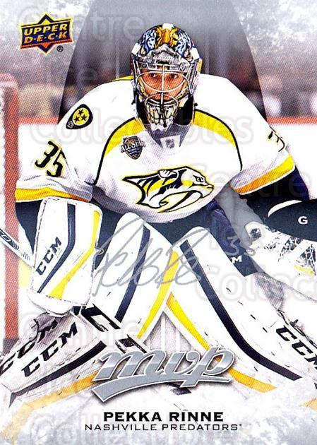 2016-17 Upper Deck MVP Silver Script #231 Pekka Rinne<br/>1 In Stock - $3.00 each - <a href=https://centericecollectibles.foxycart.com/cart?name=2016-17%20Upper%20Deck%20MVP%20Silver%20Script%20%23231%20Pekka%20Rinne...&quantity_max=1&price=$3.00&code=717141 class=foxycart> Buy it now! </a>