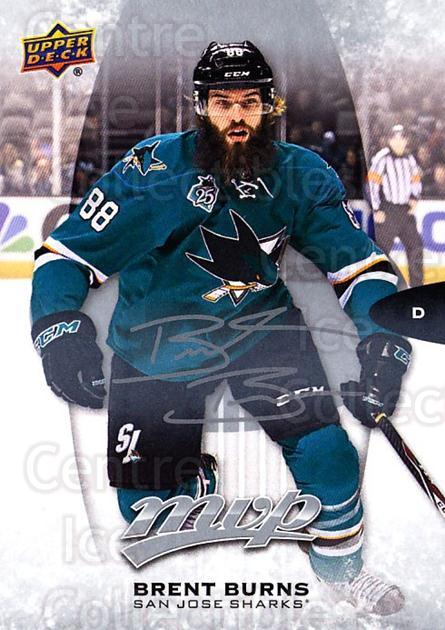 2016-17 Upper Deck MVP Silver Script #160 Brent Burns<br/>1 In Stock - $2.00 each - <a href=https://centericecollectibles.foxycart.com/cart?name=2016-17%20Upper%20Deck%20MVP%20Silver%20Script%20%23160%20Brent%20Burns...&quantity_max=1&price=$2.00&code=717151 class=foxycart> Buy it now! </a>