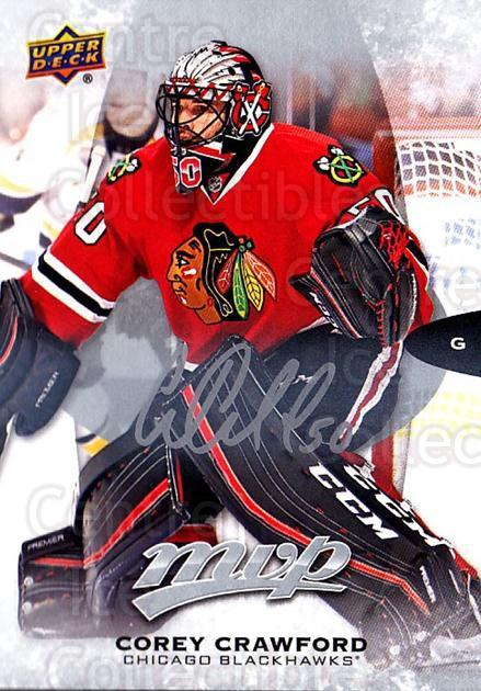 2016-17 Upper Deck MVP Silver Script #134 Corey Crawford<br/>1 In Stock - $2.00 each - <a href=https://centericecollectibles.foxycart.com/cart?name=2016-17%20Upper%20Deck%20MVP%20Silver%20Script%20%23134%20Corey%20Crawford...&quantity_max=1&price=$2.00&code=717191 class=foxycart> Buy it now! </a>
