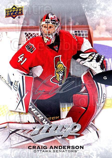 2016-17 Upper Deck MVP Silver Script #103 Craig Anderson<br/>2 In Stock - $2.00 each - <a href=https://centericecollectibles.foxycart.com/cart?name=2016-17%20Upper%20Deck%20MVP%20Silver%20Script%20%23103%20Craig%20Anderson...&quantity_max=2&price=$2.00&code=717193 class=foxycart> Buy it now! </a>