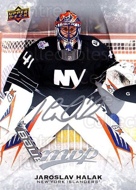 2016-17 Upper Deck MVP Silver Script #25 Jaroslav Halak<br/>1 In Stock - $2.00 each - <a href=https://centericecollectibles.foxycart.com/cart?name=2016-17%20Upper%20Deck%20MVP%20Silver%20Script%20%2325%20Jaroslav%20Halak...&quantity_max=1&price=$2.00&code=717200 class=foxycart> Buy it now! </a>